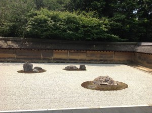 "Famous Zen Garden in Kyoto, Japan, July 2015. ""All is in simplicity."""